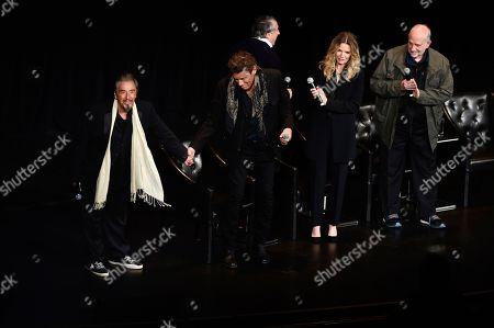 "Al Pacino, Steven Bauer, Michelle Pfeiffer, Brian De Palma. Actors Al Pacino, left, Steven Bauer and Michelle Pfeiffer and director Brian De Palma attend a 35th anniversary screening ""Scarface"" at Beacon Theatre during Tribeca Film Festival, in New York"