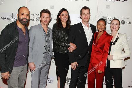 Jeffrey Wright, James Marsden, Lisa Joy, Jonathan Nolan, Thandie Newton and Evan Rachel Wood