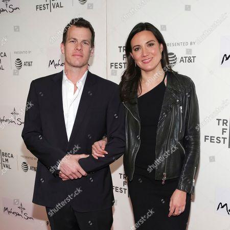 "Jonathan Nolan, Lisa Joy. Series co-creators Jonathan Nolan, left, and Lisa Joy attend a screening of ""Westworld"" at the BMCC Tribeca PAC during the 2018 Tribeca Film Festival on in New York"