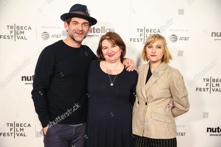 Stock Image of Dylan Smith, Ioana Uricaru and Malina Manovici attend the premiere of 'Lemonade'during 2018 Tribeca Film Festival at Regal Battery Park 11 on April 19, 2018 in New York City. (Photo: William Volcov)