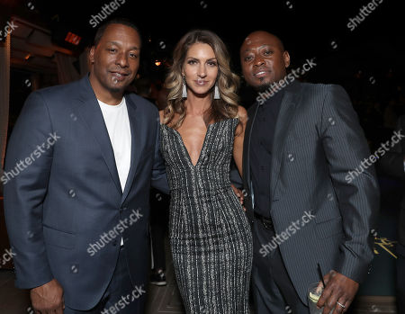 Stock Image of Director Deon Taylor, Dawn Olivieri and Omar Epps
