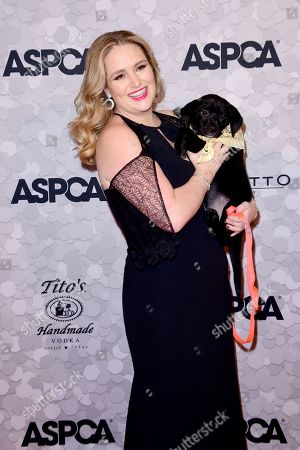Gillian Hearst with Puppy