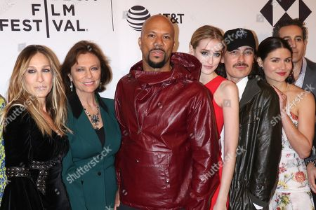 Sarah Jessica Parker, Jacqueline Bisset, Common, Gus Birney, Fabien Constant (Director) and Phillipa Soo