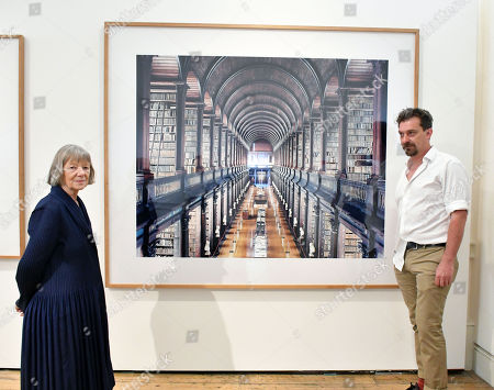 Candida Höfer, Outstanding Contribution to Photography, Sony World Photography Awards 2018, and Mike Trow, with 'Trinity College Library Dublin I 2004'