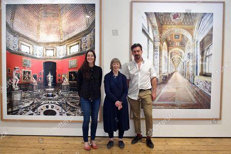 Alys Tomlinson, Candida Höfer, Mike Trow, with Candida Höfer 'Uffizi Firenze III 2008' and 'Hermitage St. Petersburg VIII 2014'