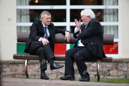 Willie Rennie MSP, Leader of the Scottish Liberal Democrats, and Brian Taylor, political editor for BBC Scotland, chat off-camera