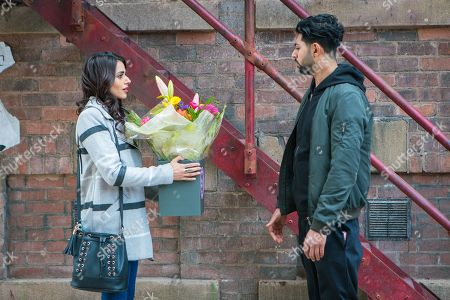 Ep 9444 Monday 30th April 2018 - 2nd Ep Rana Nazir, as played by Bhavna Limbachia, tries to tell Zeedan Nazir, as played by Qasim Akhtar, she doesn't love him.