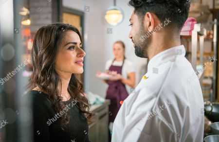 Ep 9442 Friday 27th April 2018 - 2nd Ep Rana Nazir, as played by Bhavna Limbachia, apologises to Zeedan Nazir, as played by Qasim Akhtar, who offers her a job at Speed Daal. Kayla, as played by Mollie Winnard, walks in to find him hugging Rana and giving her a kiss, Zeedan tells Kayla he thinks Rana still has feelings for him.