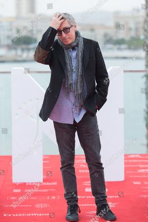 Stock Photo of Spanish filmmaker David Trueba during the presentation the film 'Casi 40' at the 21st edition of Malaga Spanish Film Festival, in Malaga, southeastern Spain, 20 April 2018. The festival runs from 13 to 22 April.