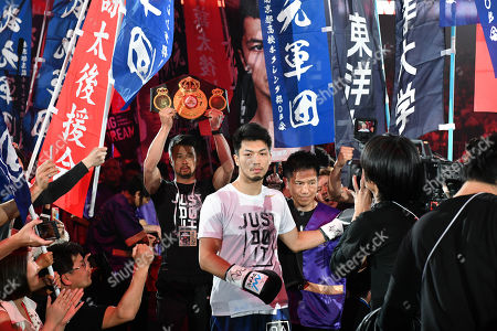 Ryota Murata of Japan enters the ring before the WBA middleweight title bout