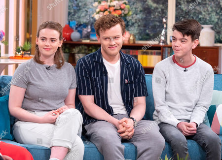 Daisy Waterstone, Callum Woodhouse and Milo Parker