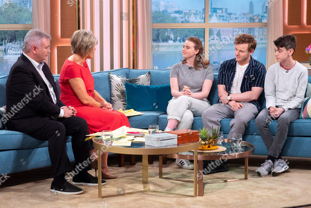 Eamonn Holmes and Ruth Langsford, Daisy Waterstone, Callum Woodhouse and Milo Parker