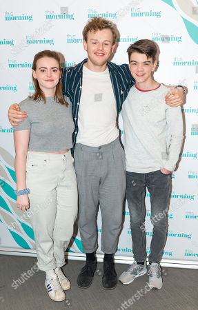 Stock Image of Daisy Waterstone, Callum Woodhouse and Milo Parker