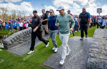 Shane Lowry, Paul McGinley, Rory McIlroy and Padraig Harrington pictured at The Golf Course at Adare Manor, as the 2020 JP McManus Pro-Am was launched. . Tickets for the event are now on sale from www.jpmcmanusproam.com.