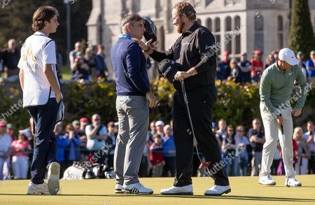 Paul McGinley with Shane Lowry at Adare Manor, as the 2020 JP McManus Pro-Am was launched. . Tickets for the event are now on sale from www.jpmcmanusproam.com.