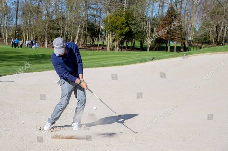Paul McGinley chips out of a bunker at Adare Manor, as the 2020 JP McManus Pro-Am was launched. . Tickets for the event are now on sale from www.jpmcmanusproam.com.