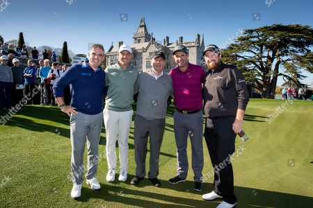 Paul McGinley, Rory McIlroy, JP McManus, Padraig Harrington and Shane Lowry after the round of golf at Adare Manor, as the 2020 JP McManus Pro-Am was launched. . Tickets for the event are now on sale from www.jpmcmanusproam.com.