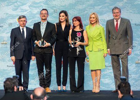 Queen Letizia, Inigo Mendez de Vigo, Cayetana Guillen Cuervo and Cristina Cifuentes