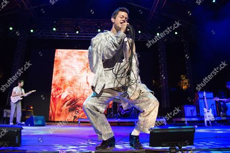 Perfume Genius, Mike Hadreas. Perfume Genius performs at the Coachella Music & Arts Festival at the Empire Polo Club, in Indio, Calif