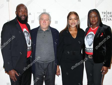 Tracy Martin, Robert De Niro, Grace Hightower and Sybrina Fulton