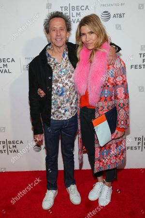 "Brian Grazer, Veronica Smiley. Executive producer Brian Grazer, left, and Veronica Smiley attend a screening of ""Picasso"" at the BMCC Tribeca PAC during the 2018 Tribeca Film Festival, in New York"