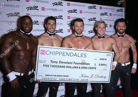 Editorial image of Toni Dovolani 'Chippendales' celebrity host, Las Vegas, USA - 20 Apr 2018