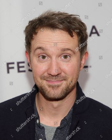 """Stock Picture of Actor Sam Huntington attends a screening of """"Seven Stages to Achieve Eternal Bliss By Passing Through the Gateway Chosen By the Holy Storsh"""" at the SVA Theatre during the 2018 Tribeca Film Festival, in New York"""