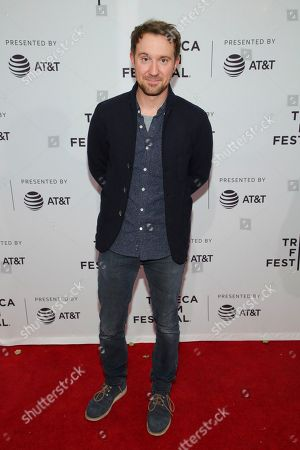 """Actor Sam Huntington attends a screening of """"Seven Stages to Achieve Eternal Bliss By Passing Through the Gateway Chosen By the Holy Storsh"""" at the SVA Theatre during the 2018 Tribeca Film Festival, in New York"""