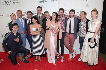 "Stock Photo of T.R. Knight, Sebastian Roche, Alex Rich, Maria Jose Bavio, Lucas Arthur Englander, Antonio Banderas, Samantha Colley, Robert Sheehan, Seth Gabel, Brian Grazer, Clemence Poesy. s T.R. Knight, from left, Sebastian Roche, Alex Rich, Maria Jose Bavio, Lucas Arthur Englander, Antonio Banderas, Samantha Colley, Robert Sheehan, Seth Gabel, executive producer Brian Grazer and Clemence Poesy attend a screening of ""Picasso"" at the BMCC Tribeca PAC during the 2018 Tribeca Film Festival on in New York"