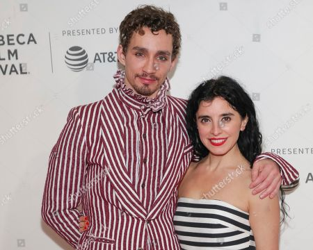 """Robert Sheehan, Maria Jose Bavio. s Robert Sheehan, left, and Maria Jose Bavio attend a screening of """"Picasso"""" at the BMCC Tribeca PAC during the 2018 Tribeca Film Festival on in New York"""