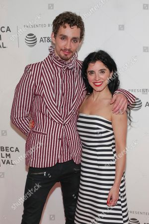 """Stock Image of Robert Sheehan, Maria Jose Bavio. s Robert Sheehan, left, and Maria Jose Bavio attend a screening of """"Picasso"""" at the BMCC Tribeca PAC during the 2018 Tribeca Film Festival on in New York"""