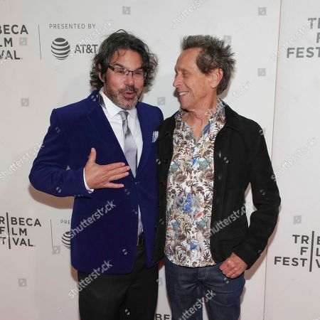 "Ken Biller, Brian Grazer. Director/executive producer Ken Biller, left, and executive producer Brian Grazer attend a screening of ""Picasso"" at the BMCC Tribeca PAC during the 2018 Tribeca Film Festival on in New York"