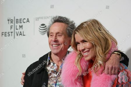 "Brian Grazer, Veronica Smiley. Executive producer Brian Grazer, left, and Veronica Smiley attend a screening of ""Picasso"" at the BMCC Tribeca PAC during the 2018 Tribeca Film Festival on in New York"