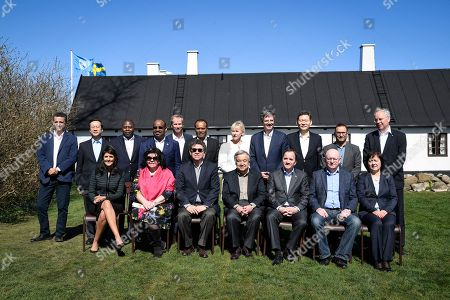 UN ambassadors pose for a group photo  in connection to a UN Security Council meeting at Backakra outside Ystad, Sweden, 21 April 2018. (back row L-R) Bolivia's Sacha Sergio Llorentty Soliz, China's Ma Zhaoxu, the delagate of Ivory Coast (name not known), Ecvatorial Guinea's Anatolio Ndong Mba, Sweden' Olof Skoog, Ethiopia's Tekeda Alemu, Sweden's Foreign Minister Margot Wallstrom, France's François Delattre, Kazakstan's Kairat Umarov, Kuwai'ts Mansour Ayyad SH A Alotaibi and Netherlands Karel J.G. van Oosterom; (front row L-R) USA's Nikki Haley, Great Britain's Karen Pierce, Peru's 'Gustavo Meza-Cuadra, UN General-Secretary  Antonio Guterres, Sweden's Prime Minister Stefan Lofven, Russia's Vassily Nebenzia and Poland's Joanna Wronecka. The meeting on Syria took place at Backakra, the estate of Dag Hammarskjold who served as UN Secretary-General from 1953 until his death in a plane crash in September 1961.