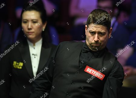 Matthew Stevens of Wales during his first round match