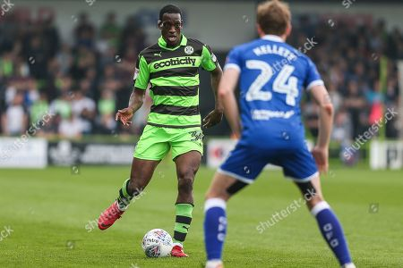 Forest Green Rovers Isaiah Osbourne(34) runs forward during the EFL Sky Bet League 2 match between Forest Green Rovers and Chesterfield at the New Lawn, Forest Green. Picture by Shane Healey
