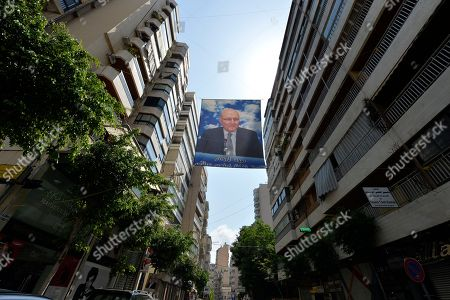 A poster depicting a photo of former Prime Minister Tammam Salam a candidate for Lebanese parliamentary elections posted on a Beirut street, Lebanon, 21 April 2018. A total of 976 candidates, including 111 women, presented their candidacy papers to the Ministry of Interior affairs, marking the largest number of candidates ever recorded. The 06 May 2018 general elections will be Lebanon's first in nine years.