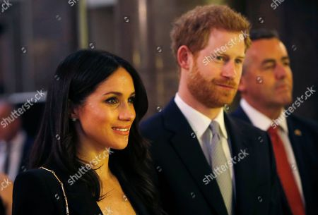 Britain's Prince Harry and Meghan Markle attend a reception hosted by Malcolm Turnbull, Prime Minister of Australia and his wife Lucy Turnbull at Australia House in London, to celebrate the forthcoming Invictus Games Sydney 2018