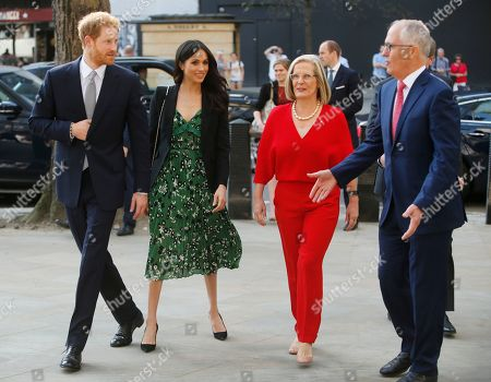 Prince Harry and Meghan Markle, Malcolm Turnbull, Prime Minister of Australia and his wife Lucy Turnbull