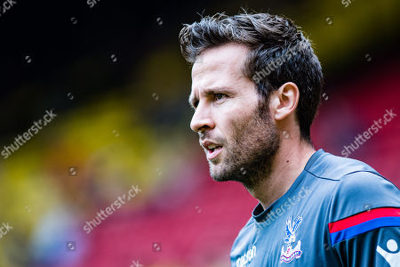 Yohan Cabaye (7) of Crystal Palace during the warm up before Premier League match between Watford and Crystal Palace at Vicarage Road, Watford. Picture by Sebastian Frej