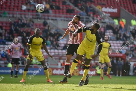 Burton Albion striker Darren Bent (9) scores a goal to make the score 1-1 during the EFL Sky Bet Championship match between Sunderland and Burton Albion at the Stadium Of Light, Sunderland. Picture by Richard Holmes