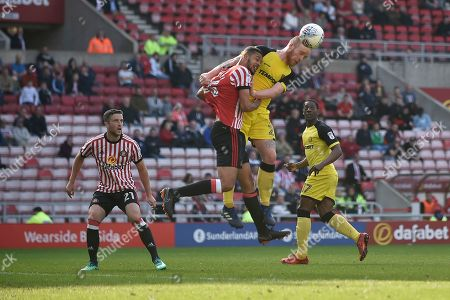 Burton Albion striker Liam Boyce (27) scores a goal to make the score 2-1 during the EFL Sky Bet Championship match between Sunderland and Burton Albion at the Stadium Of Light, Sunderland. Picture by Richard Holmes