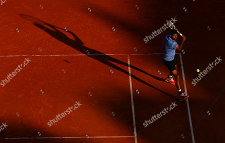 Rohan Bopanna of India in doubles action