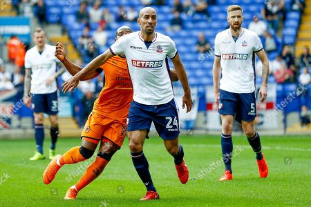 Bolton Wanderers midfielder Karl Henry (24) in action  during the EFL Sky Bet Championship match between Bolton Wanderers and Wolverhampton Wanderers at the Macron Stadium, Bolton. Picture by Simon Davies