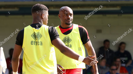 Nigel Reo-Coker of MK Dons was named as a substitute  during Southend United vs MK Dons, Sky Bet EFL League 1 Football at Roots Hall on 21st April 2018