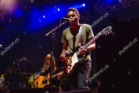 Benjamin Booker performs at the Coachella Music & Arts Festival at the Empire Polo Club, in Indio, Calif