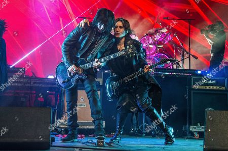 Stock Picture of Richard Fortus, Sugizo. Richard Fortus, left, of Guns N Roses, and Sugizo of X Japan perform at the Coachella Music & Arts Festival at the Empire Polo Club, in Indio, Calif