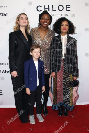 Lily James, Charlie Ray Reid, Nina Dacosta, Tessa Thompson