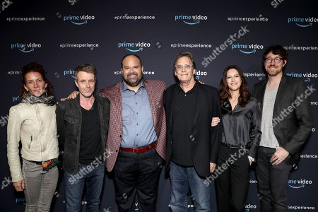 Julie Berghoff, Composer Harry Gregson-Williams, Mel Rodriguez, Executive Producer Michael Dinner, Isa Dick Hackett, and Executive Producer Kalen Egan