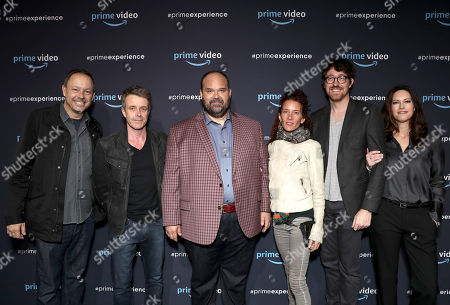 Moderator John Griffiths, Composer Harry Gregson-Williams, Mel Rodriguez, Julie Berghoff, Executive Producer Kalen Egan, and Isa Dick Hackett